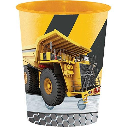 Creative Converting Plastic Keepsake Cups, Construction Birthday Zone (12-Count)