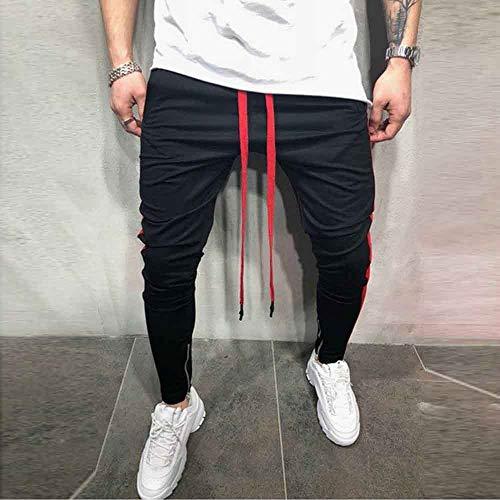 lunghi pantaloni casual solido Pantaloni da uomomoda patchwork tuta allentati F uomo pantaloni TKJFc1l