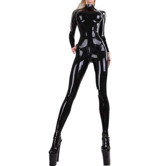 Slave Suit Neck Entry latex//rubber catsuit//fullsuit 0.4mm Size L