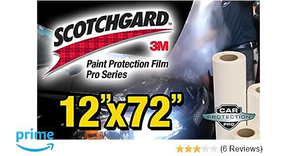 "Paint Protection Film Clear Bra 3M Scotchgard Pro Series 18/"" x 72/"" Sheet"