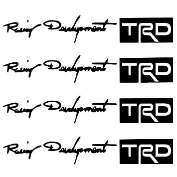 Kingzer 4 x Racing Desarrollo TRD Auto Car/Truck Tirador de puerta adhesivo negro: Amazon.es: Coche y moto