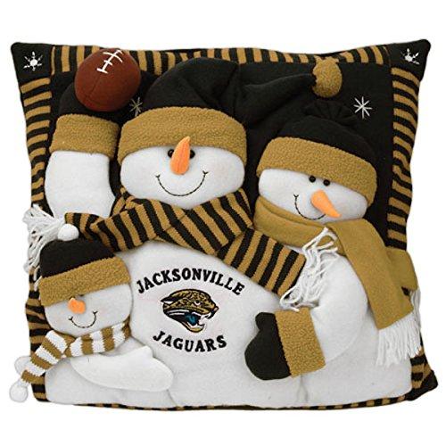 (Jacksonville Jaguars Snowman Pillow)