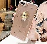 Twinlight Luxury 3D Cartoon Bear Liquid Ball Phone Case for iPhone 7 8 Plus X XS XR XS MAX Glitter Clear Soft TPU Case Cover (for iPhone Xs Max)