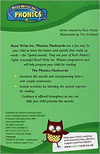 Read Write Inc. Home: Phonics Flashcards: Ruth Miskin, Tim ...