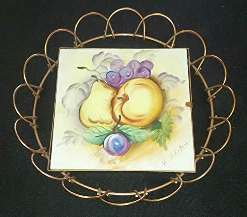 Unbranded Vintage UCAGCO Signed Ceramic Tile Artwork for sale  Delivered anywhere in USA