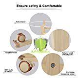 Decdeal Multifunctional Portable Wooden Baby Cradle Bassinet Bed