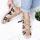 haoricu Women's Summer Flat Sandals with Hemp Rope