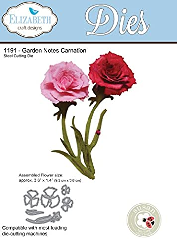 Garden Notes Carnation - Die Cut Flower Note Forma