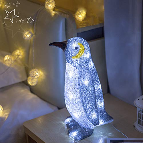 Geboor Penguin Led Night Light for Kids USB Rechargeable Desk Light Table Lamp Decorative Bedside Desk Indoor Outdoor Lamp for Bedroom Garden Home ()