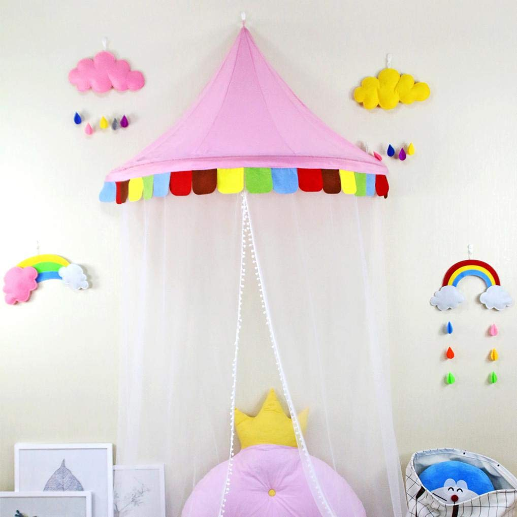 WODISON Half Moon Shape Mosquito Net Bed Canopies Kids Playing Tent Bedding House Decor
