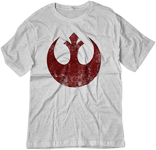 800ee559 BSW Men's Star Wars Rebel Alliance Starbird Insignia Phoenix Shirt XL Ash  Grey