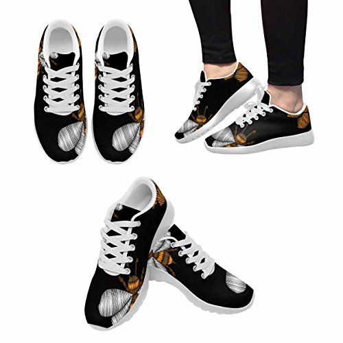 D-story Jogging Running Sneaker Seamless Con Honey Bee Womens Casual Comfort Sport A Piedi Scarpe Da Corsa Bianche