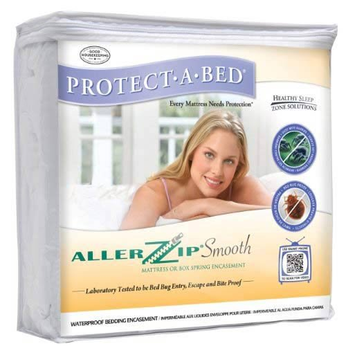 Protect A Bed Allerzip Terry Waterproof Bedbug Proof Case Twin 13in Zippered - BOM0113