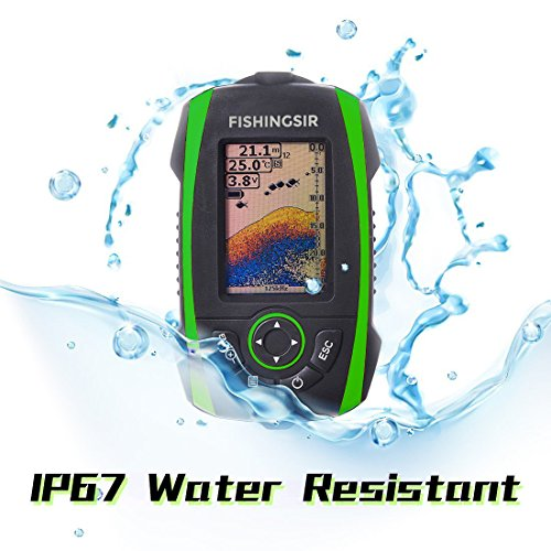 FISHINGSIR Wireless Portable Fish Finder Depth Finder Fishfinder with Sonar Sensor Transducer and 100M LCD colors Display by FISHINGSIR (Image #3)