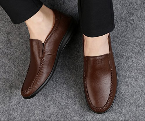 03 Men's Lazy Casual Men's Shoe Leather Doug Xiaolong Shoes Soft Spring Genuine Bottom Leather Casual Shoes pZwaT