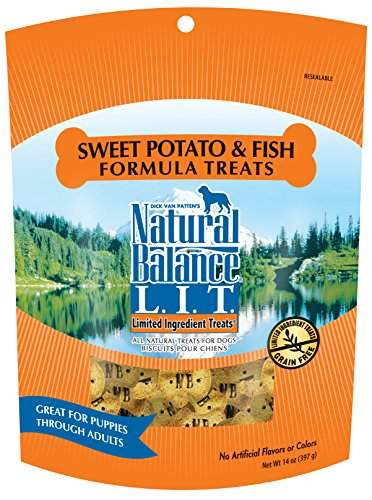 Natural Balance L.I.T. Limited Ingredient Dog Treats, Grain Free, Sweet Potato & Fish Formula, 14-Ounce