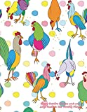 Happy Rainbow Chickens 2018-2019  Large Academic Year Monthly Planner