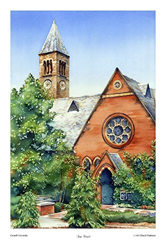 Cornell University, Watercolor, Art Print, Sage Chapel, Ithaca NY, Wedding Gift, Painting 12