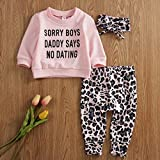 Newborn Baby Girls Clothes Daddy Saying Top Printed