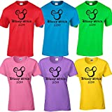 Disney World Family Vacation 2019 Matching t Shirts Magic Kingdom Bright Colors (All Stars Movies Red, Adult Unisex XX-Large)