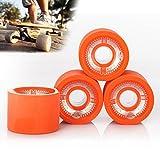 Tera UGIN 4Pcs of Skateboard Wheels 70x 51mm with PC Buckle for Longboard Orange