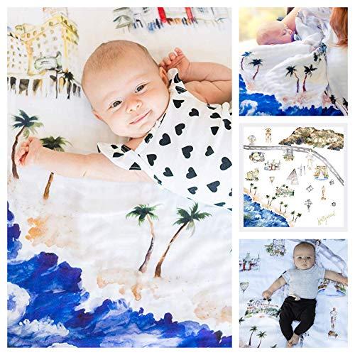 Baby Blanket Hollywood 8 Layers Luxury Bamboo Organic Cotton Toddler Boy Girl ()