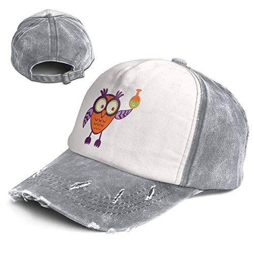 Cute Halloween Owl Trend Printing Cowboy Hat Fashion Baseball Cap for Men and Women -