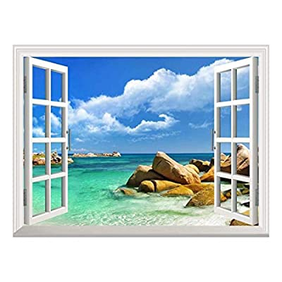Removable Wall Sticker Wall Mural Tropical Landscape Seychelles...