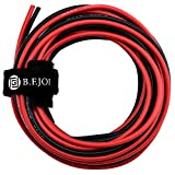 18 Gauge Electronics Wire, Flexible Wire Power Cable 18 AWG – 150 Strands of Copper Silicone Wire for RC DIY Toys Models Auto Battery Clamp Cable Electronic Equipments [10 ft Black And 10 ft Red]