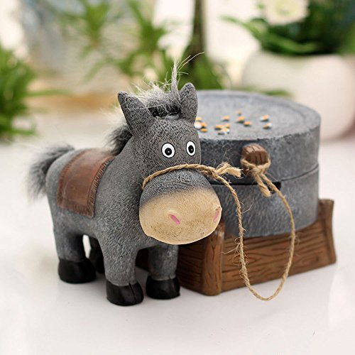 DEBON Donkey Theme Ashtray Innovative Home Accessories, Great Gift for Special People (Pulling A Grind) (Funny Household compare prices)