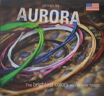 Aurora I. cham10–46camaleón UV Glow guitarra eléctrica cuerdas, Invisible, color azul, 10–46