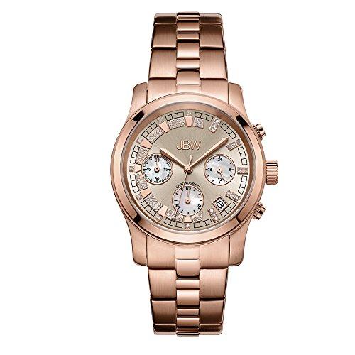 JBW Luxury Women's Alessandra Diamond Wrist Watch with Stainless Steel - Watch Dial White Diamond
