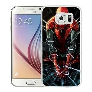 Newest Samsung Galaxy S6 Case ,Spiderman-Artwork White Samsung Galaxy S6 Cover Case Fashionable And Popular Designed Case Good Quality Phone Case