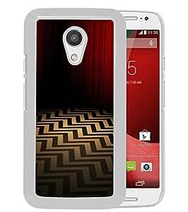 For Motorola Moto G (2nd generation),twin peaks White Protective Case For Motorola Moto G (2nd generation)