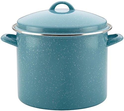[Paula Deen Enamel on Steel Covered Stockpot, 12 quart, Gulf Blue Speckle] (Blue Speckle Enamel)