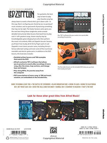 Amazon.com: Guitar Sessions -- Led Zeppelin Acoustic: Book & DVD (9781470614591): Led Zeppelin: Books