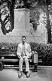 """Poster - Likeness of Tom Hanks sits at the famous bench from the movie """"""""Forrest Gump"""""""" at Madame Tussaud's Wax Museum in the Hollywood section of Los Angeles California - 24""""x16"""" offers"""