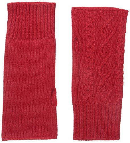 bela.nyc Women's Cashmere Cable Fingerless Gloves, Bright...