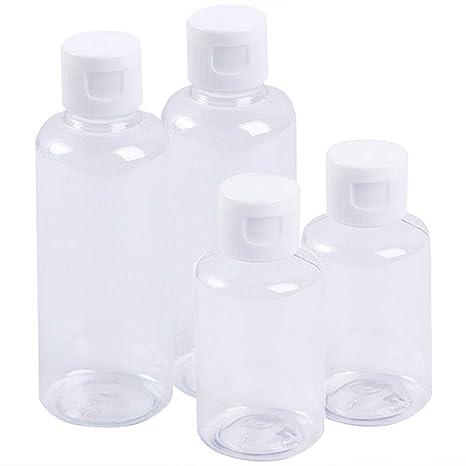 Juego Botellas Viaje, Plástico De Plástico Transparente Y ...