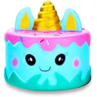 R • HORSE Jumbo Squishy Kawaii Cute Unicorn Mousse Cream Scented Squishies Slow Rising Kids Toys Doll Stress Relief Toy Hop Props, Decorative Props Large (Narwhal Cake)