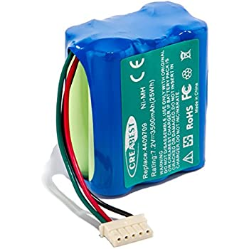 Creabest New 7.2V 3500mAh Ni-MH Replacement Battery Compatible with iRobot Vacuum Cleaner Sweeping Machine Braava 380 380T Mint 5200B 5200C Floor Mopping Robots Battery