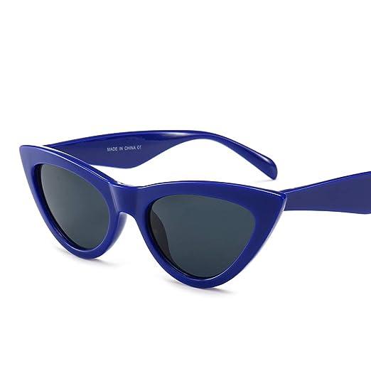 Yangjing-hl Gafas de Sol Ojo de Gato Marco Azul Pieza Gris ...