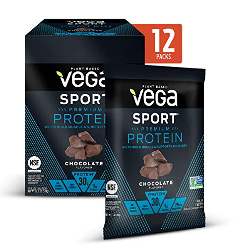 Vega Sport Premium Protein Powder, Chocolate, Plant Based Protein Powder for Post Workout – Certified Vegan, Vegetarian…