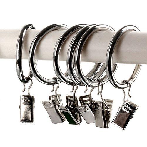 Bodhi2000Lot de 10mini crochets de rideau de fenêtre en métal Draperie Clips Anneaux, Métal, Silver, Taille unique TRTAZ11A