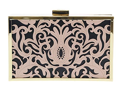 for Box Black HXLPB3 D96 Womens Cavalli Nude Roberto Clutch P0BXqX