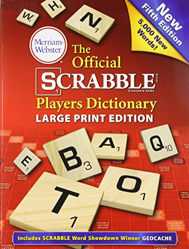 The Official Scrabble Players Dictionary, New 5th Edition (large print, paperback) 2014 copyright