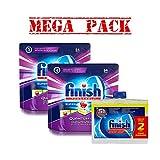 finish dishwasher basket - 2 X Finish Power Ball Dishwasher 64 & 2 Pk Finish Dishwasher Cleaner- Mega Pack #1