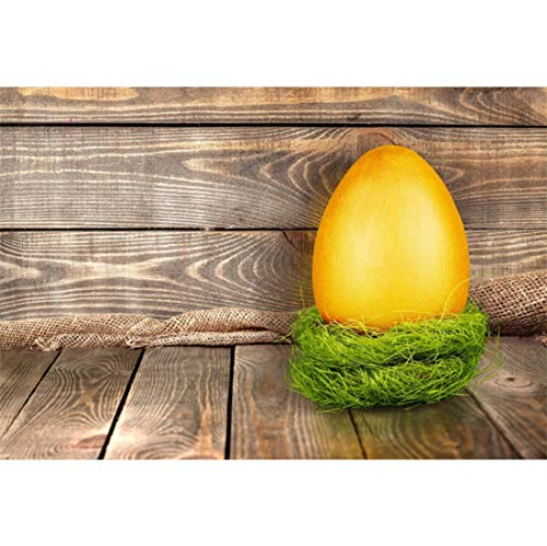 Yeele-Easter-Backdrop 7x5ft Easter Photography Background Golden Eggs Grass Nest Brown Wooden Plank Photo Backdrops Pictures Studio Props Wallpaper