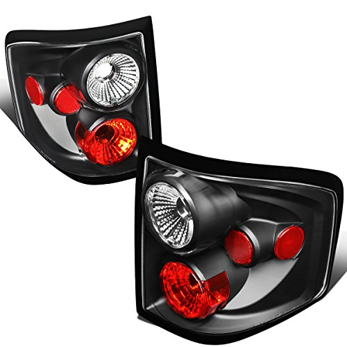 For 2004-2008 Ford F150 Flareside Pair Black Housing Altezza Style Tail Light Brake Lamp