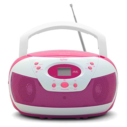 Tyler Portable Stereo CD Player AM//FM Radio Aux /& Headphone Jack Line In